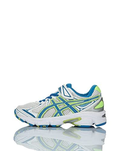 Asics Sneaker Performance Pre Galaxy 6 Ps [Bianco/Blu/Giallo]