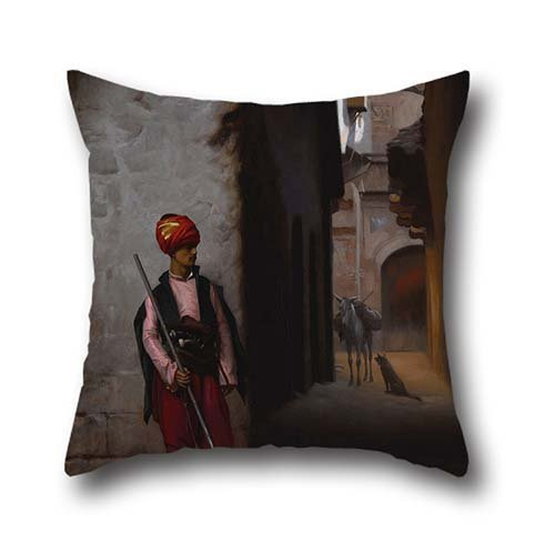 Oil Painting Gérôme, Jean-Léon - The Guard Pillow Shams 20 X 20 Inch / 50 By 50 Cm Gift Or Decor For Festival,car,family,bar Seat,kids Girls,couch - Both Sides