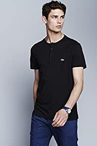 Short Sleeve Pima Cotton Henley T-shirt