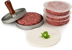 Andrew James Quarter Pounder Hamburger Maker / Beefburger Press + 100 Wax Discs - Ideal For BBQ's