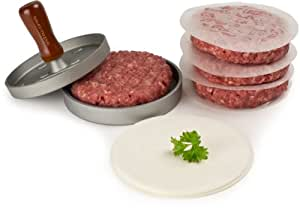 Andrew James Quarter Pounder Hamburger Maker / Beefburger Press + 100 Wax Discs - Ideal For BBQ's