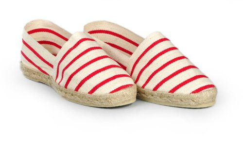 Espadrille-homme-raye-marinire-rouge-fabrication-artisanale-made-in-pays-basque-france