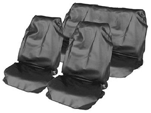 Yaris 2 x Fronts 2005-11 Heavy Duty Black Waterproof Car Seatcovers//Protectors