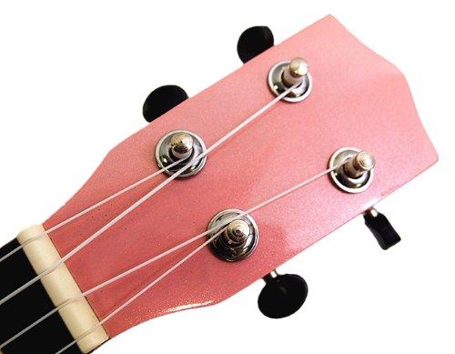 Beautiful Wooden Pink with Round Hole 21' Soprano Ukulele/rosewood Fingerboard & Bridge