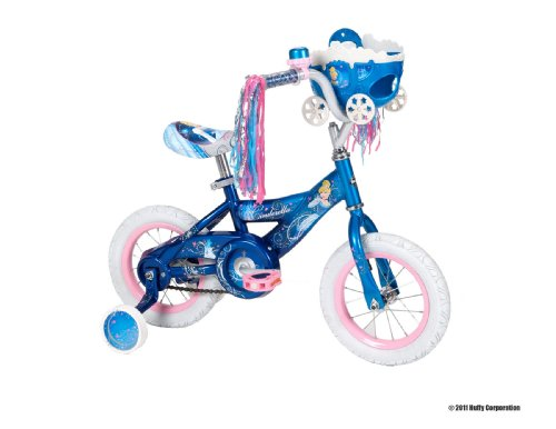 Huffy 12-Inch Girls Disney Cinderella Bike (Starlight Magical Blue)