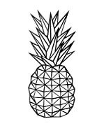 Best Seller Living Decoración Pared Pineapple
