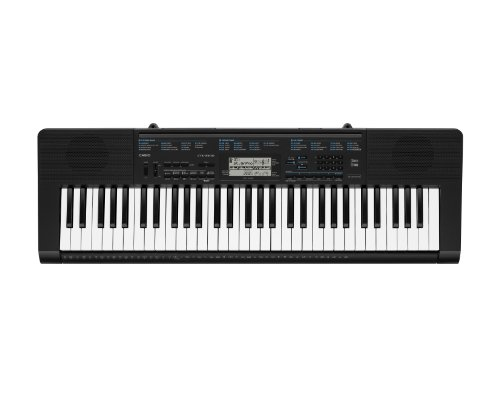 Casio CTK-2300 61-Key Personal Keyboard with Voice Pad Feature and Power Supply