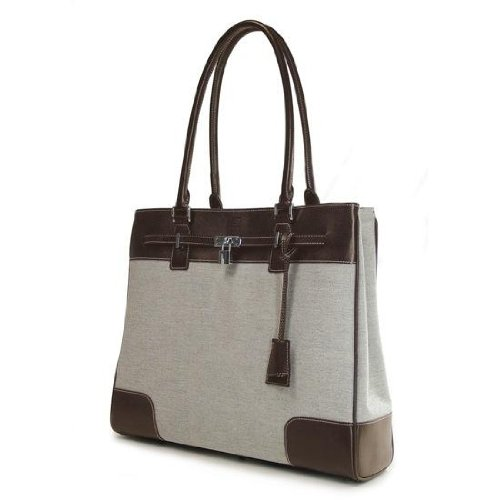 Mobile Edge Madison Work Tote- 15.4-Inch PC/17-Inch MacBook (Brown/White)