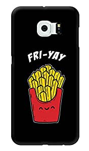 """Humor Gang Fri-Yay Friday Funny Printed Designer Mobile Back Cover For """"Samsung Galaxy S6"""" (3D, Glossy, Premium Quality Snap On Case)"""