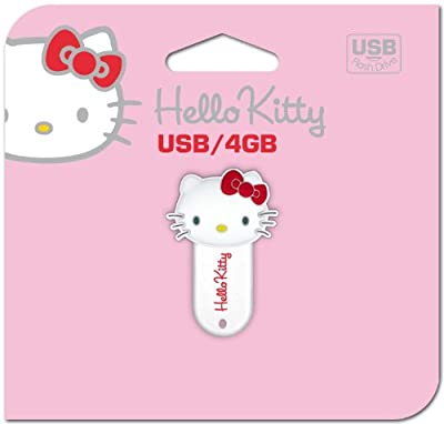 Hello Kitty Cat Head - USB flash drive - 4 GB - USB - white from Dane-Elec Memory
