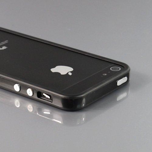 i-Beans【全15色】iPhone5 用バンパー ソフト+ハード アイフォン5 バンパーケース ブラック Bumper Case for iPhone 5(7876-4)