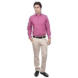 Sangam Apparels Regular Fit Pink Formal Shirt