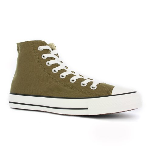 Converse All Star Hi Chuck Taylor Trainers Olive - 7