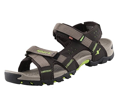 Sparx-Mens-Camel-and-Fluorescent-Green-Sandals-SS447