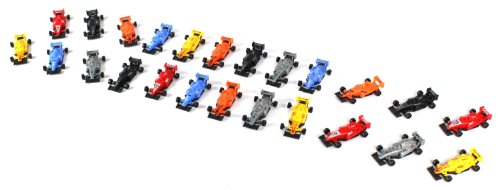 Top Racing Formula F1 One Cars 24 Piece Toy Vehicle Play Set, Comes with Variety of Toy Cars