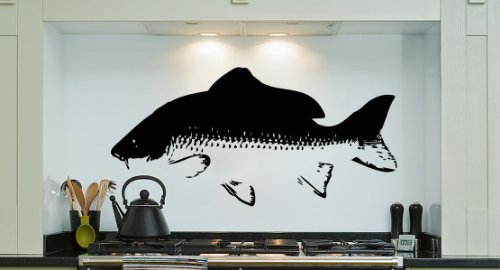 Housewares Vinyl Decal Fish Bass Home Wall Art Decor Removable Stylish Sticker Mural Unique Design For Room Kitchen Bath Food Store front-27689
