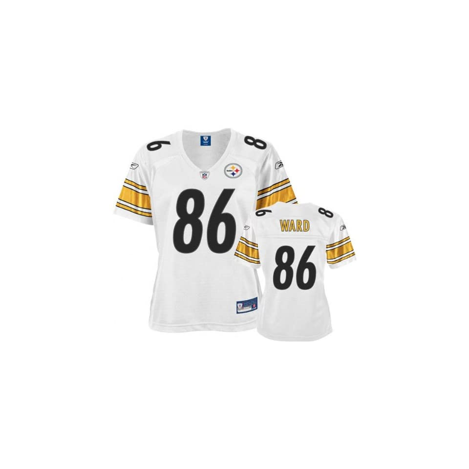 1f14e0c48 Hines Ward White Reebok Premier Pittsburgh Steelers Womens Jersey on ...