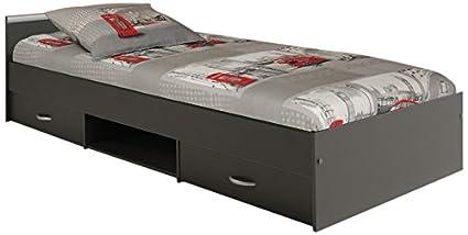 Parisot 2068l2ti cama-Alpha cama gris Ombre 90x 200madera
