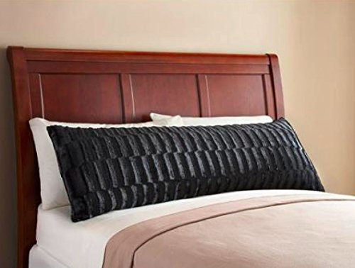 Elegant Faux Fur Body Pillow Cover Removable With Zip