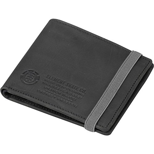 Element Leather Wallet with CC, Note and Coin Pockets ~ Endure Black