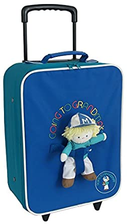 "Mercury Going To Grandma's 16"" Upright Luggage - Blue Multi"