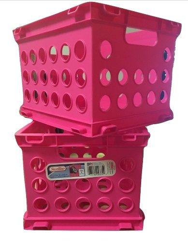 Sterilite Mini Crates, CD & DVD size, Pack of 2 (Neon Pink) (Sterilite Modular System compare prices)