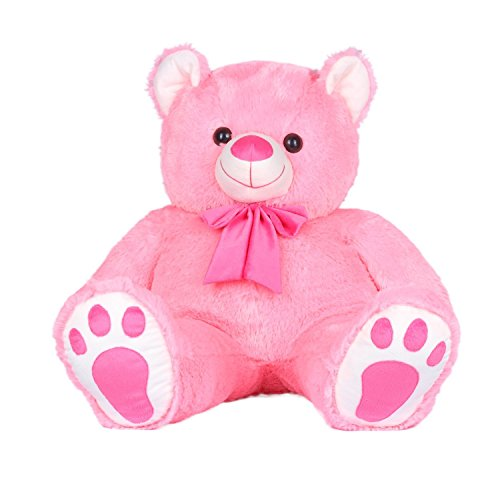Kuddles-Angel-Teddy-33-Feet-With-Small-Brown-Soft-Toy-By-Ultra-Pink