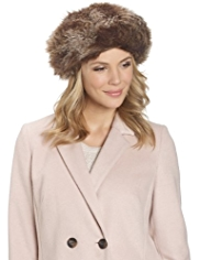 M&S Collection Faux Fur Beret Hat