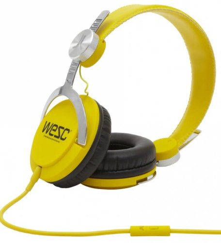 Wesc Bass Headphones Dandelion Yellow, One Size