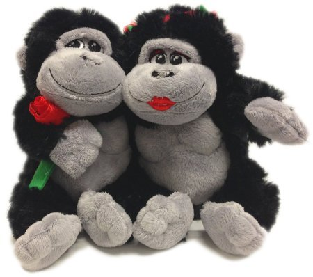 "Jungle Huggables 10"" Gorilla/Ape Hugging Pair Plush"