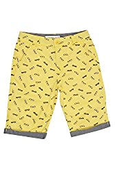 Poppers by Pantaloons Boy's Cotton Shorts (205000005616579, Yellow, 11-12 Years)