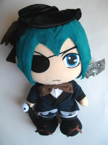 12″ LARGE Black Butler Ciel Phantomhive Plush Doll image