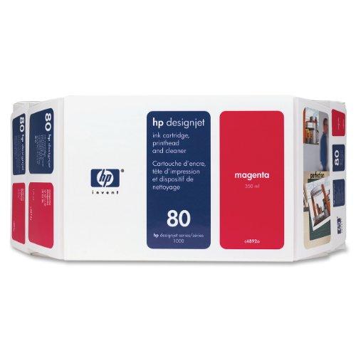 Ink cartridge n°80 value pack magenta 350ml+head+clean (C4892A) HP C5706A