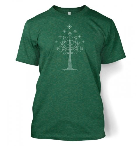 White Tree Of Gondor T Shirt Medium Antique Jade Dome