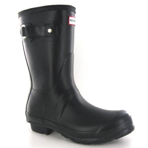 Hunter Original Short Black Womens Boots