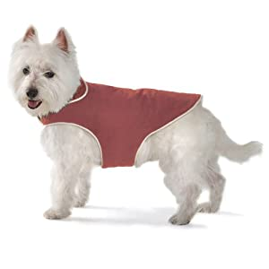 Dog Gone Smart Jacket with Ecru Piping for Dogs, 32-Inch, Red