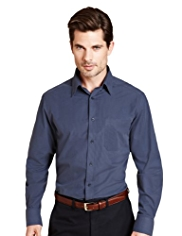 2in Longer Easy Care™ Button-Down Collar Striped Shirt