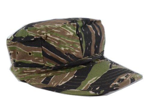 タイガーストライプ 迷彩柄 リザードパターン 八角帽 ミリタリーキャップ アメリカ軍