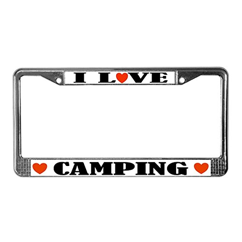 I Love Camping License Plate Frame made our list of camping gifts couples will love and great gifts for couples who camp