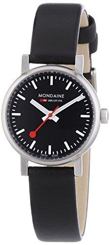 Mondaine A658.30301.14SBB - Reloj de mujer de cuarzo, correa de piel color negro