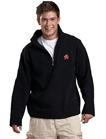 NCAA University of Maryland Kashwere U Unisex Half Zip Pullover (Black, Large 42-45) by Kashwere U