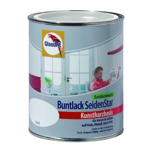 glasurit buntlack seidenstar seidenmatt kunstharzbasis 375ml 5010 enzianblau. Black Bedroom Furniture Sets. Home Design Ideas
