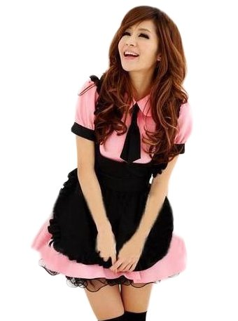 TM Women's Temptation Sexy lingerie Maid costume Nurse Halloween Cosplay Uniform