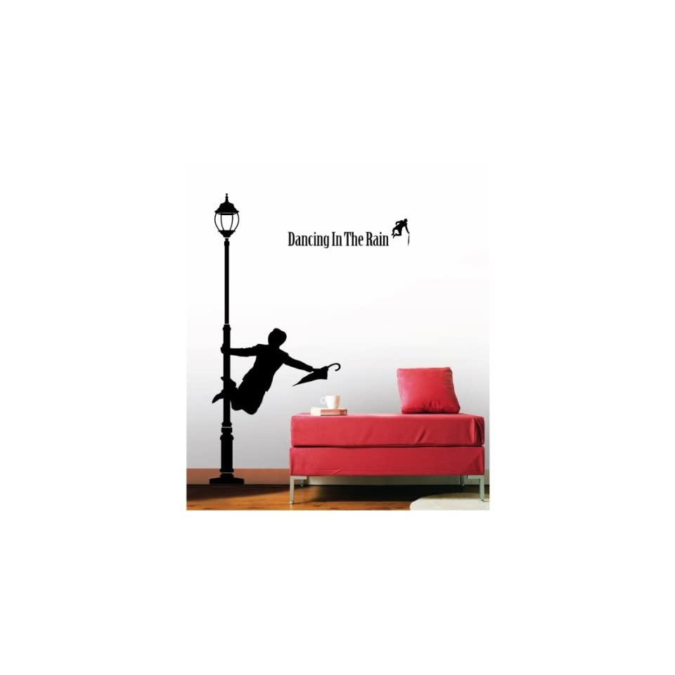 Jiniy RAIN DANCE WALL ART DECOR Mural Decal STICKER(KR0040)