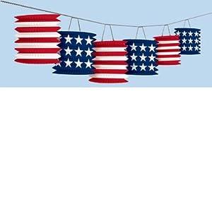 Patriotic Lantern Garland