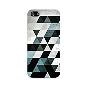 Mobicture Black Triangles Premium Printed Case For Apple iPhone 5/5s
