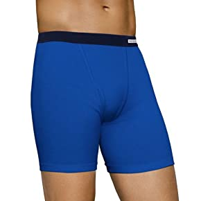 NEW Fruit of the Loom Men's 5pk Soft Covered Waistband Boxer Briefs