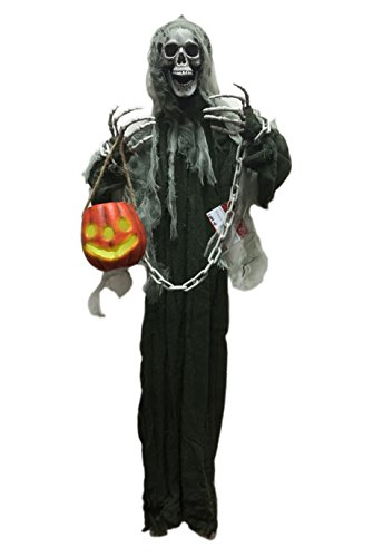 [Hanging Ghost Halloween Decoration with Lantern Halloween Prop, The Perfect Outdoor Halloween Decor Idea to Enjoy Your Party More, Haunt Your Guests] (Scary Scarecrow Halloween Costumes)