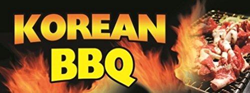 Korean BBQ Vinyl Banner Sign - 3' X 8'