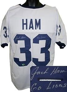Jack Ham signed Penn State Nittany Lions White Custom Jersey Go Lions